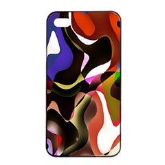 Colourful Abstract Background Design Apple iPhone 4/4s Seamless Case (Black)