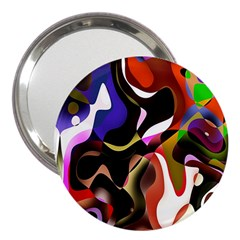 Colourful Abstract Background Design 3  Handbag Mirrors