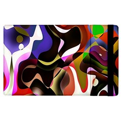 Colourful Abstract Background Design Apple iPad 3/4 Flip Case
