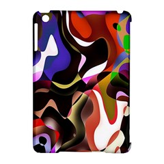 Colourful Abstract Background Design Apple iPad Mini Hardshell Case (Compatible with Smart Cover)