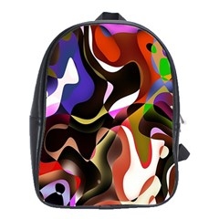 Colourful Abstract Background Design School Bags (XL)