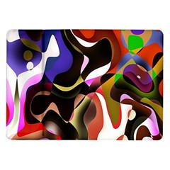 Colourful Abstract Background Design Samsung Galaxy Tab 10 1  P7500 Flip Case