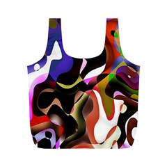 Colourful Abstract Background Design Full Print Recycle Bags (M)
