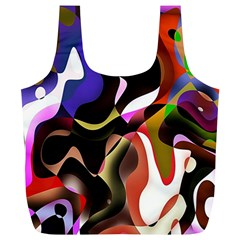 Colourful Abstract Background Design Full Print Recycle Bags (l)