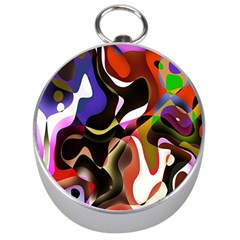 Colourful Abstract Background Design Silver Compasses