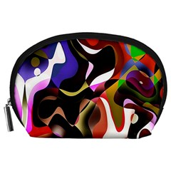 Colourful Abstract Background Design Accessory Pouches (Large)