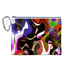 Colourful Abstract Background Design Canvas Cosmetic Bag (L)