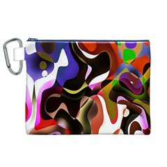 Colourful Abstract Background Design Canvas Cosmetic Bag (xl)