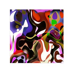 Colourful Abstract Background Design Small Satin Scarf (Square)