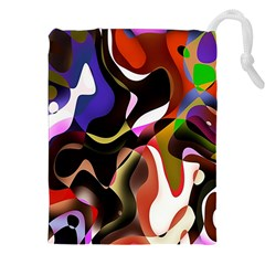 Colourful Abstract Background Design Drawstring Pouches (xxl)