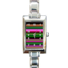 Multi Colored Stripes Background Wallpaper Rectangle Italian Charm Watch