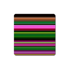 Multi Colored Stripes Background Wallpaper Square Magnet