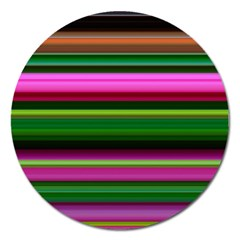 Multi Colored Stripes Background Wallpaper Magnet 5  (round)