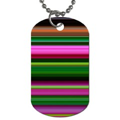 Multi Colored Stripes Background Wallpaper Dog Tag (one Side)