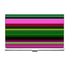 Multi Colored Stripes Background Wallpaper Business Card Holders