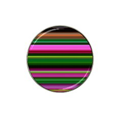 Multi Colored Stripes Background Wallpaper Hat Clip Ball Marker (10 pack)