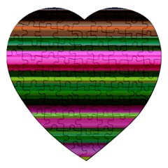 Multi Colored Stripes Background Wallpaper Jigsaw Puzzle (heart)
