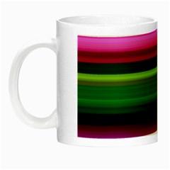 Multi Colored Stripes Background Wallpaper Night Luminous Mugs