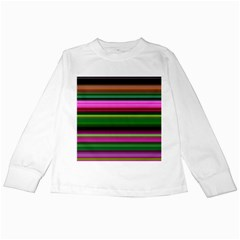 Multi Colored Stripes Background Wallpaper Kids Long Sleeve T Shirts
