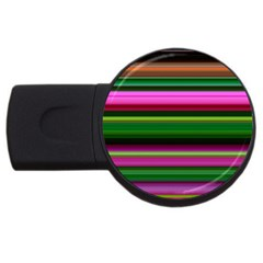 Multi Colored Stripes Background Wallpaper Usb Flash Drive Round (4 Gb)