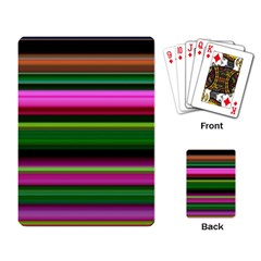 Multi Colored Stripes Background Wallpaper Playing Card