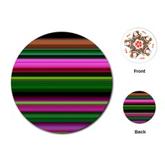 Multi Colored Stripes Background Wallpaper Playing Cards (round)
