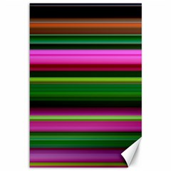 Multi Colored Stripes Background Wallpaper Canvas 12  X 18