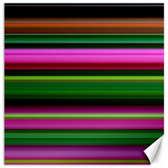 Multi Colored Stripes Background Wallpaper Canvas 16  X 16