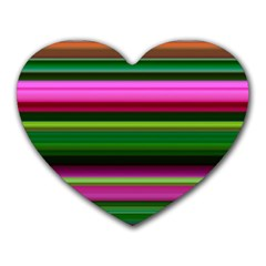 Multi Colored Stripes Background Wallpaper Heart Mousepads