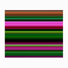 Multi Colored Stripes Background Wallpaper Small Glasses Cloth (2 Side)