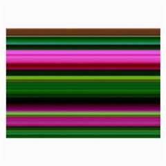 Multi Colored Stripes Background Wallpaper Large Glasses Cloth (2 Side)