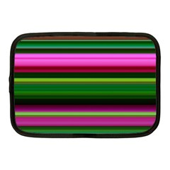 Multi Colored Stripes Background Wallpaper Netbook Case (medium)