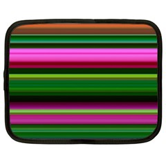 Multi Colored Stripes Background Wallpaper Netbook Case (large)