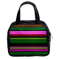 Multi Colored Stripes Background Wallpaper Classic Handbags (2 Sides)