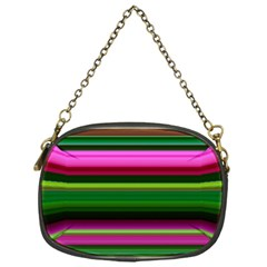 Multi Colored Stripes Background Wallpaper Chain Purses (one Side)