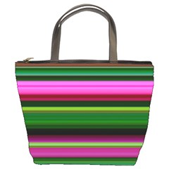 Multi Colored Stripes Background Wallpaper Bucket Bags