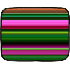 Multi Colored Stripes Background Wallpaper Double Sided Fleece Blanket (mini)