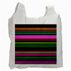 Multi Colored Stripes Background Wallpaper Recycle Bag (two Side)