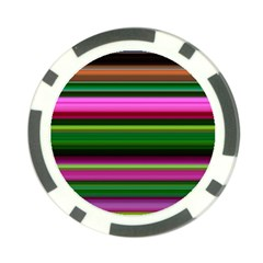 Multi Colored Stripes Background Wallpaper Poker Chip Card Guard (10 Pack)