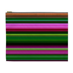 Multi Colored Stripes Background Wallpaper Cosmetic Bag (xl)