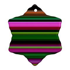Multi Colored Stripes Background Wallpaper Ornament (snowflake)