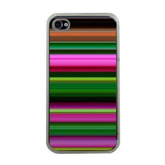 Multi Colored Stripes Background Wallpaper Apple iPhone 4 Case (Clear)