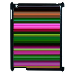 Multi Colored Stripes Background Wallpaper Apple Ipad 2 Case (black)