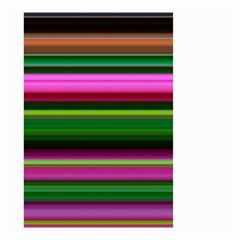 Multi Colored Stripes Background Wallpaper Small Garden Flag (Two Sides)