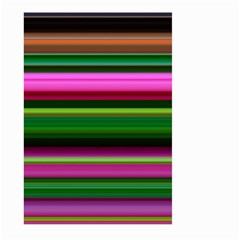 Multi Colored Stripes Background Wallpaper Large Garden Flag (Two Sides)