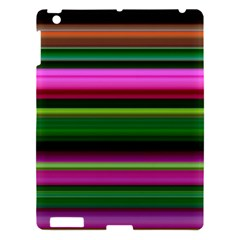Multi Colored Stripes Background Wallpaper Apple iPad 3/4 Hardshell Case