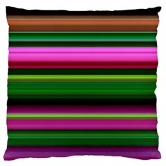 Multi Colored Stripes Background Wallpaper Large Cushion Case (One Side)