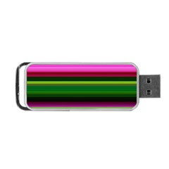 Multi Colored Stripes Background Wallpaper Portable Usb Flash (two Sides)