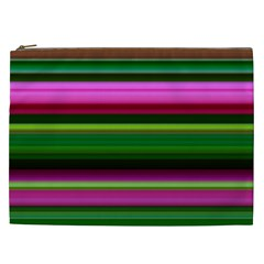 Multi Colored Stripes Background Wallpaper Cosmetic Bag (xxl)