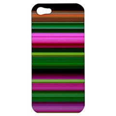Multi Colored Stripes Background Wallpaper Apple iPhone 5 Hardshell Case